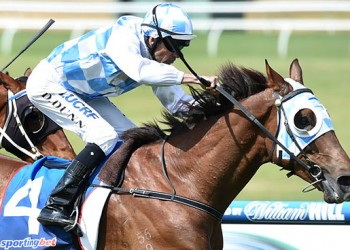 Son of Magnus, Magnapal on his way to victory at Caufield on Saturday