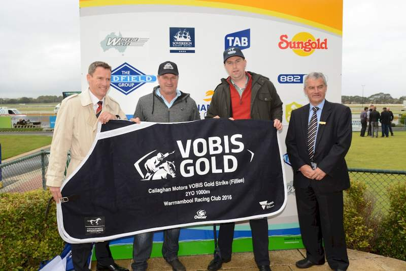 Darren Weir at presentation of Warrnambool's VOBIS Gold Strike