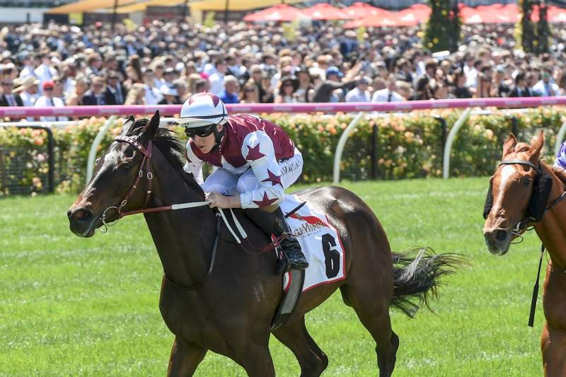 Tiamo Grace wins the Group 2 Mumm Wakeful Stakes (Brett Holburt-Racing Photos)