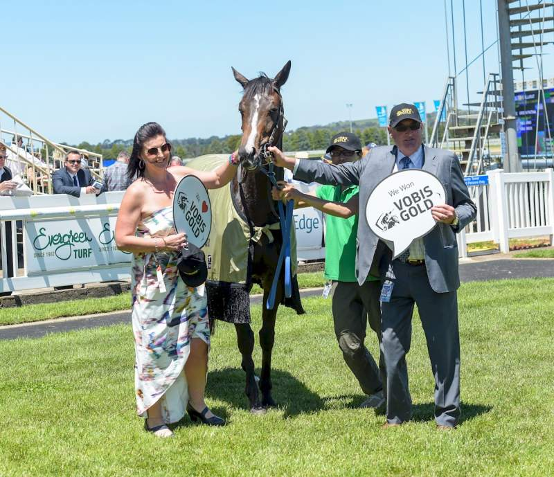 Green Patina after winning VOBIS Gold Eureka Concrete (John Donegan-Racing Photos)