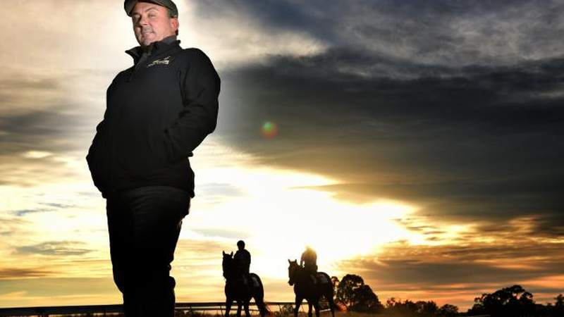 Trainer Paul Banks at Sutton Grange (Tony Gough-Herald Sun)