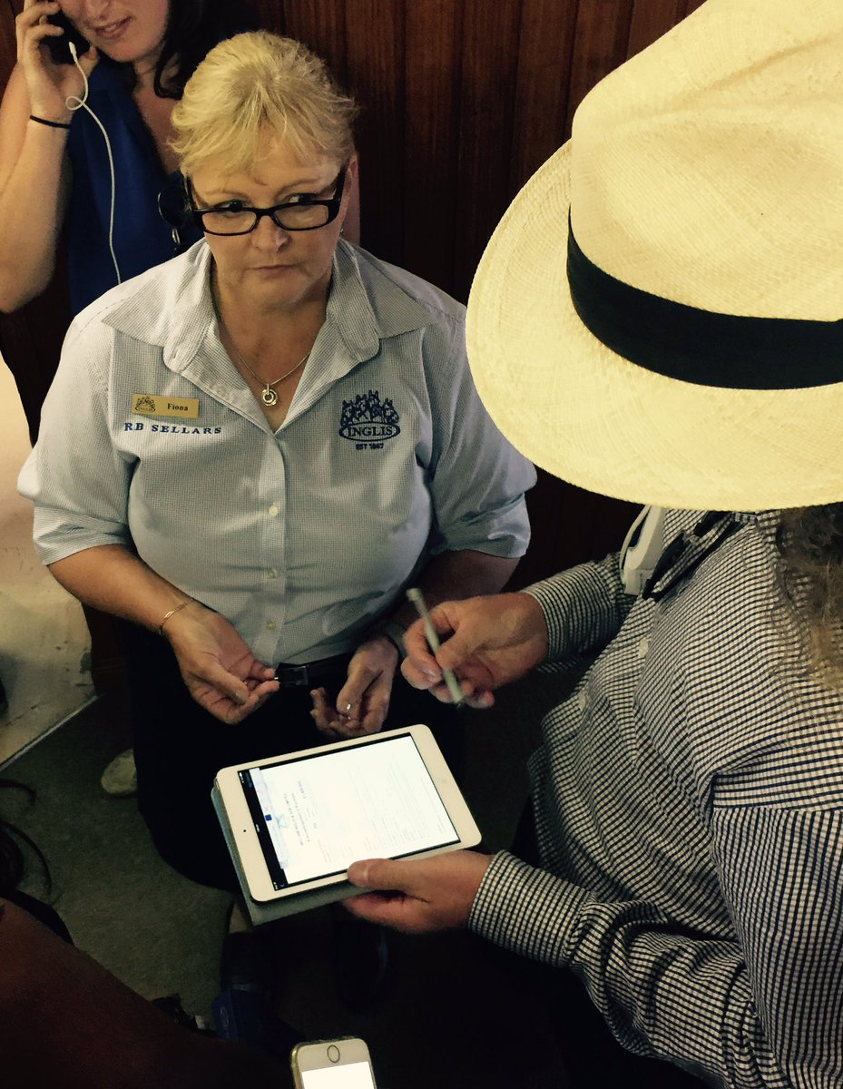 Ciaron Maher signs for the record priced colt from Gilgai Farm